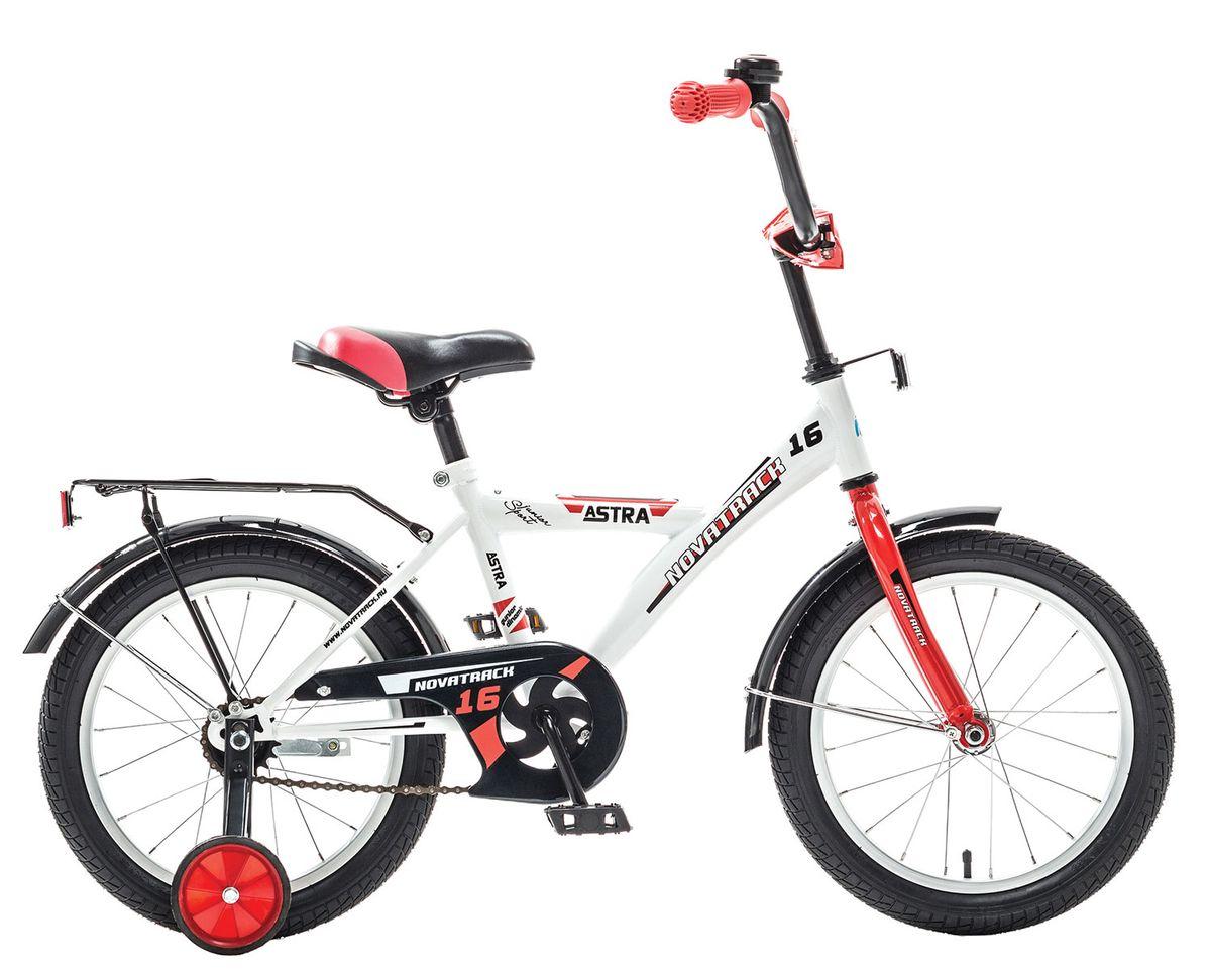 Велосипед детский Novatrack Astra, цвет: синий, черный, оранжевый, 12